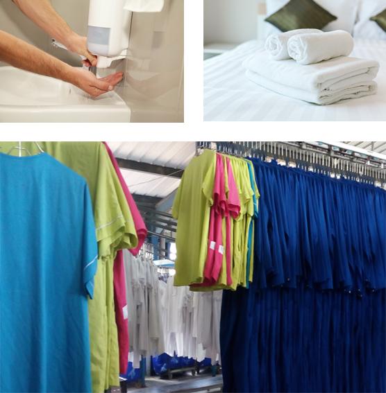 Fourniture et entretien des textiles et produits d'hygiène